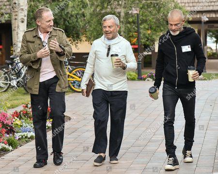 Francois-Henri Pinault, Martin Sorrell and Vivi Nevo