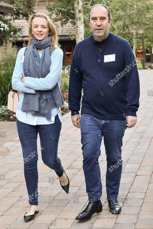 Delphine Arnault and Xavier Niel