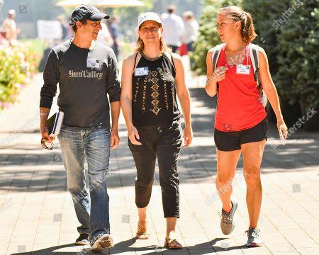 Dennis Troper, Susan Wojcicki and Anne Wojcicki