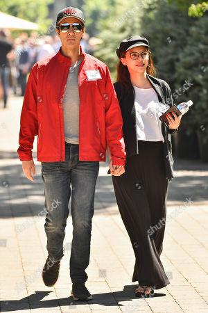 Stock Photo of Leehom Wang and Lee Jinglei Wang