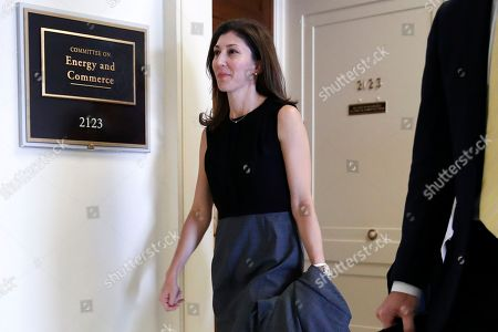 Former FBI lawyer Lisa Page arrives for a closed door interview with the House Judiciary and House Oversight and Government Reform committees, on Capitol Hill in Washington