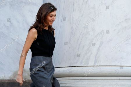 Former FBI lawyer Lisa Page leaves the Rayburn House Office Building after a closed doors interview with the House Judiciary and House Oversight and Government Reform committees, on Capitol Hill in Washington