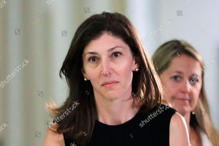 Lisa Page, Donald Trump. Former FBI lawyer Lisa Page leaves following an interview with lawmakers behind closed doors on Capitol Hill in Washington