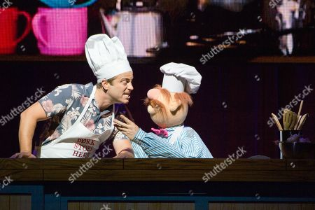 Stock Image of Kevin Bishop guest star, The Swedish Chef. The Muppets perform their full length live show for the first time ever in Europe.