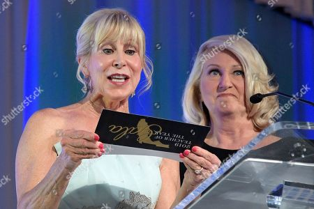 Ann Scott, Pam Stewart. Florida First Lady Ann Scott, left, announces the 2019 Teacher of the Year with Pam Stewart, Florida Commissioner of Education, during the Florida Department of Education's Teacher of the Year Gala, in ChampionsGate, Fla