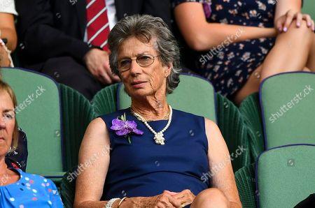 Virginia Wade in the Royal Box