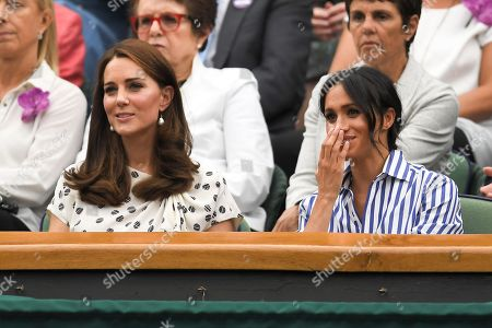 Catherine Duchess of Cambridge, Meghan Duchess of Sussex and Gill Brook in the Royal Box