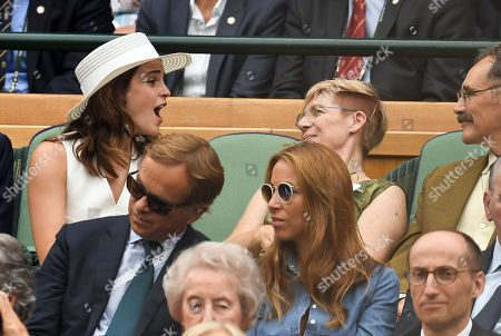 Emma Watson, Mark Rylance and Claire van Kampen in the Royal Box