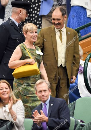 Mark Rylance and Claire van Kampen in the Royal Box