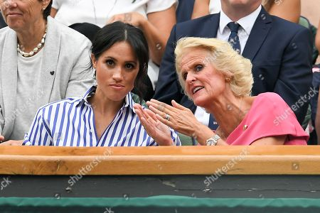Meghan Duchess of Sussex and Gill Brook in the Royal Box