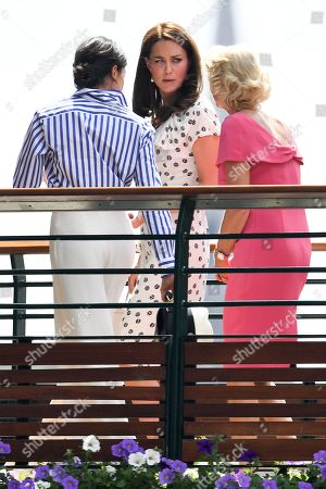 Catherine Duchess of Cambridge, Meghan Duchess of Sussex and Gill Brook