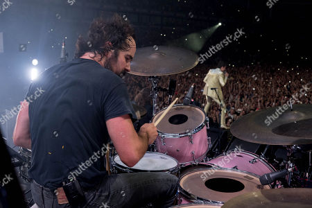 Ronnie Vannucci Jr. and Brandon Flowers of The Killers.