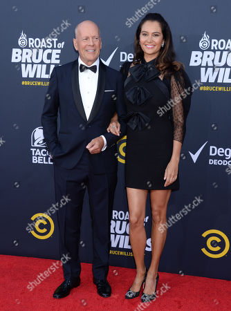 Stock Picture Of Bruce Willis And Wife Emma Heming