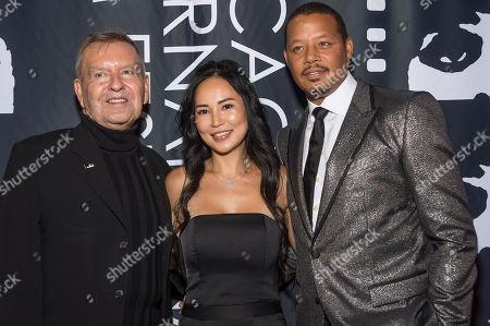 Michael Kutza, Terrence Howard and Mira Pak