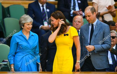 Theresa May, Catherine Duchess of Cambridge and Prince William in the Royal Box
