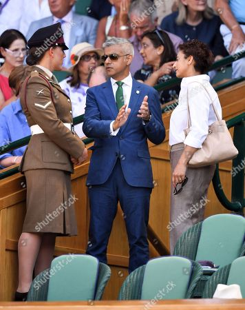 Sadiq Khan and Saadiya Khan in the Royal Box