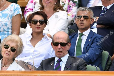 Stock Picture of Sadiq Khan and Saadiya Khan in the Royal Box