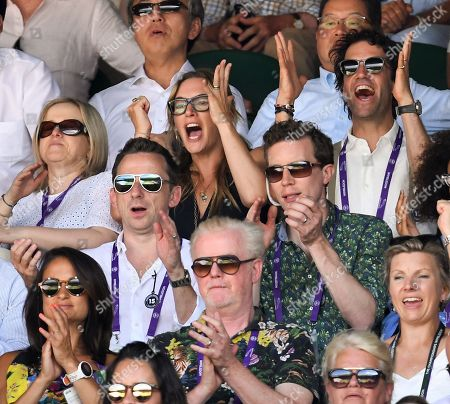 Kate Winslet cheering on Centre Court