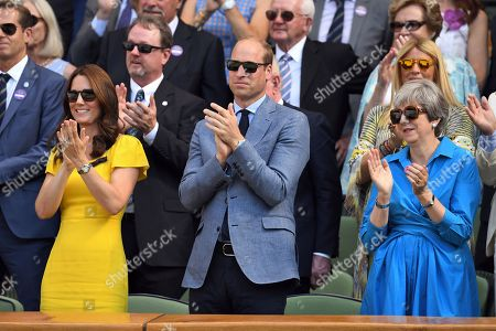 Catherine Duchess of Cambridge, Prince William and Theresa May in the Royal Box