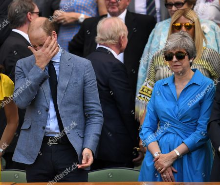 Prince William and Theresa May in the Royal Box