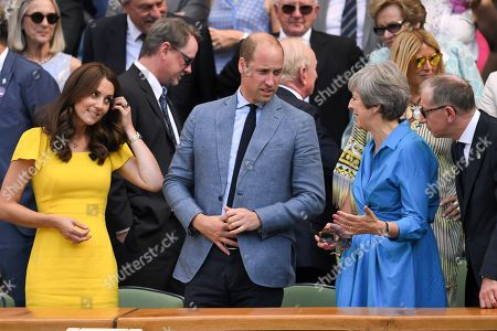 Catherine Duchess of Cambridge, Prince William, Theresa May and Philip May in the Royal Box