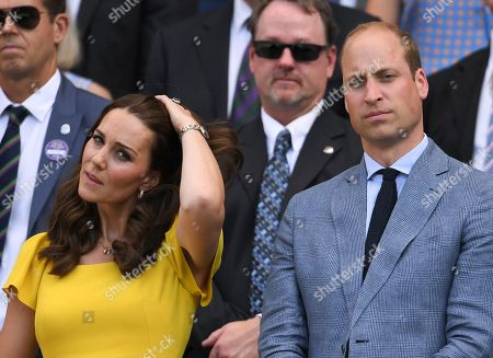 Stock Image of Prince William and Catherine Duchess of Cambridge in the Royal Box