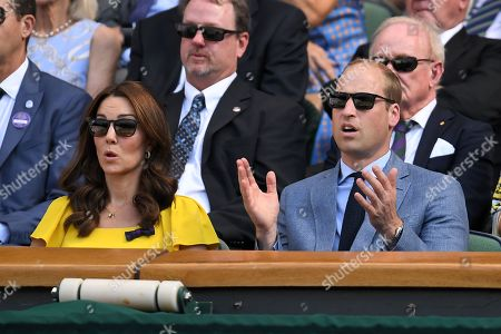Stock Picture of Prince William and Catherine Duchess of Cambridge in the Royal Box