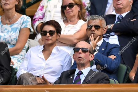 Stock Photo of Sadiq Khan and Saadiya Khan in the Royal Box