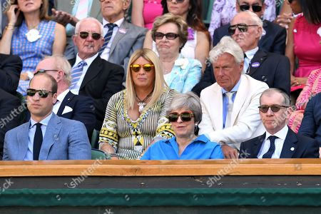 Stock Photo of Prince William, Theresa May and Philip May in the Royal Box