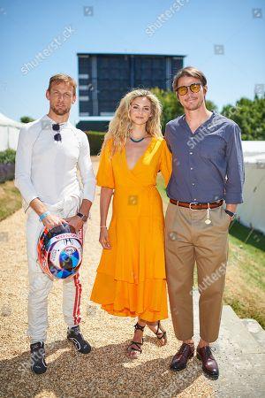 Jenson Button, Tamsin Egerton and Josh Hartnett