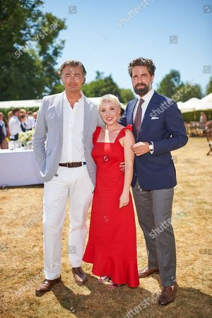 Laurent Feniou, Daisy Lewis and Jack Guinness