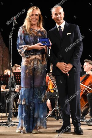 L'on. Stefania Prestigiacomo with Daniele Natalizia coordinator Medea