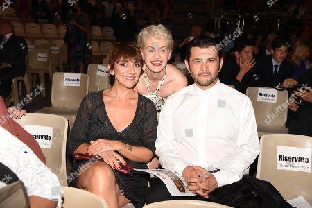 Lucia Ocone, Vinicio Marchioni and Marina Rocco