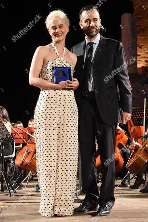 Marina Rocco awarded by the Hon. Antonio Catalfamo