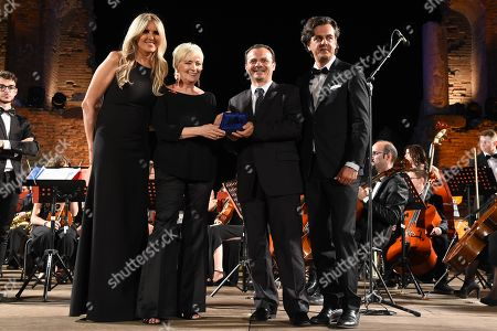 Piera Detassis awarded by the Mayor of Messina Cateno De Luca with Michel Curatolo and Tiziana Rocca