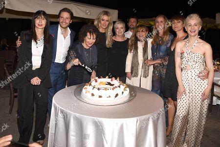 The cake, with Urania Giulia Papatheu, Daniel Bruhl, Claudia Cardinale, Tiziana Rocca, Piera Detassis, Vinicio Marchioni, Piera Degli Esposti, Stefania Prestigiacomo, Lucia Ocone and Marina Rocco