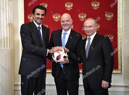 Emir of Qatar Sheikh Tamim bin Hamad Al Thani visit to Moscow