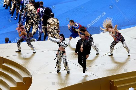 Nicky Jam and Era Istrefi perform at the Closing ceremony