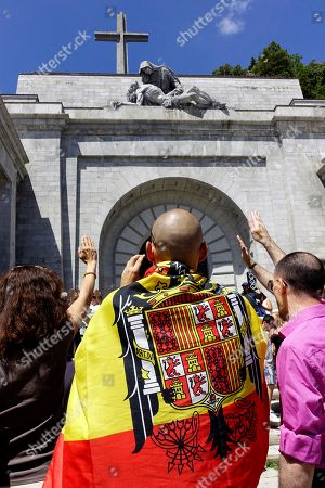 Protest against the exhumation of General Franco, San Lorenzo Del Escorial