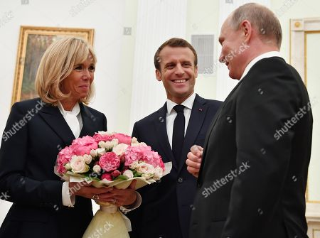 French President Emmanuel Macron visit to Moscow