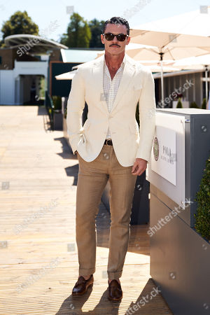 Luke Evans in The Polo Ralph Lauren VIP Suite