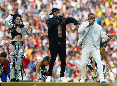 Will Smith, Nicky Jam and Era Istrefi perform during the FIFA World Cup closing ceremony
