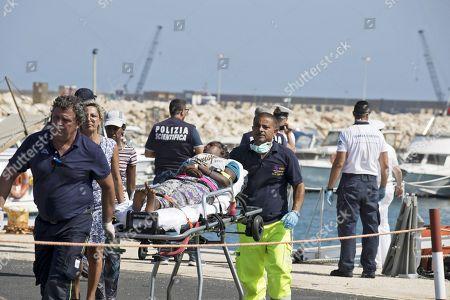 Rescued migrants arrive in Pozzallo