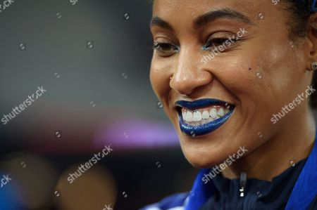 Stock Picture of Queen Harrison of Team USA after Team USA win the Athletics World Cup.