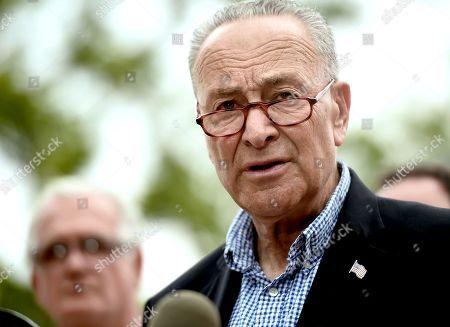 Senator Chuck Schumer 'Child Drowning' press conference, New York