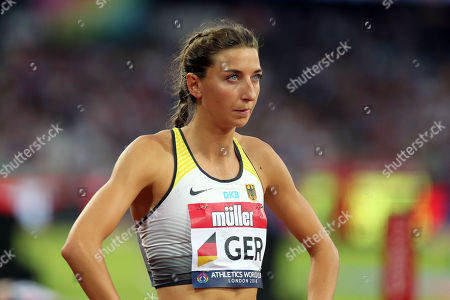 Christina Hering of Germany  competes in the women's 800 metres event during the Athletics World Cup at The London Stadium on 15th July 2018