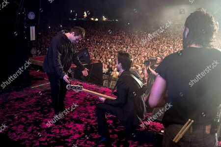 The Killers - Liam Gallagher, Brandon Flowers, and Ronnie Vannucci Jr.
