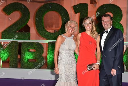 Gill Brook, Angelique Kerber and Philip Brook