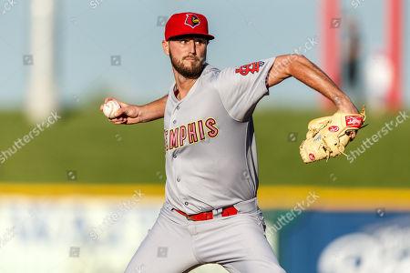 Omaha, NE U.S. - Memphis Redbirds starting pitcher Chris Ellis #23 during game 3 of the Memphis Redbirds (AAA St. Louis Cardinals) and Omaha Storm Chasers (AAA Kansas City Royals) at Werner Park in Omaha, NE..Omaha won 1-0.Attendance: 6,389