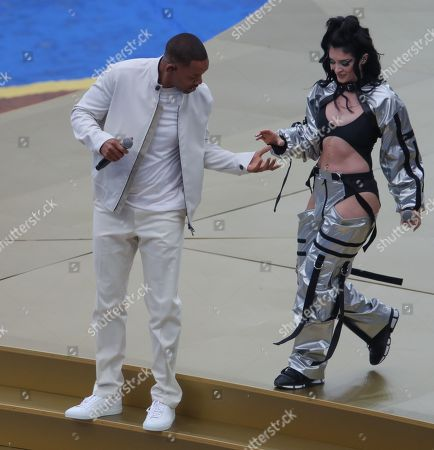 American Actor/Singer Will Smith with singer Era Istrefi performs at the Closing Ceremony
